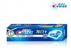 佳洁士炫白+双效牙膏120g装