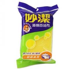 妙洁海绵百洁布(一般厨具用)抹布洗碗布1片装