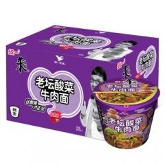 统一老坛酸菜面 一箱(12桶) 120g