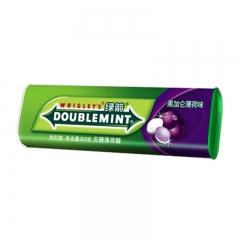 绿箭薄荷糖黑加仑子味薄荷糖35粒金属瓶装铁盒装