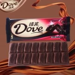 德芙 巧克力 排块单条装 80g 黑巧克力