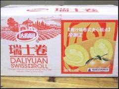 达利园瑞士卷香蕉/橙汁/草莓三种口味 2500g 橙汁味