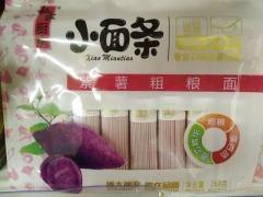 博大挂面面条儿童挂面面条鸡蛋菠菜多钙紫薯儿童小面条 粗粮紫薯挂面 268g