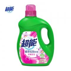 超能洗衣液 植翠低泡(柔顺舒适)2.5kg易漂清天然椰油