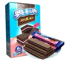 亿滋奥利奥双心脆威化饼(6条装) 草莓味 87g