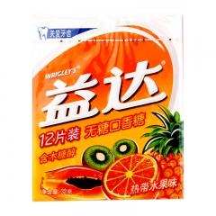 益达口香糖12片 热带果味 32g