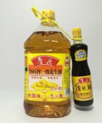 鲁花 5s压榨一级花生油 一桶 +500ml自然鲜酱香酱油