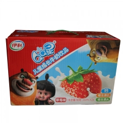 伊利QQ星儿童牛奶饮品草莓味 一箱/24瓶 200ml