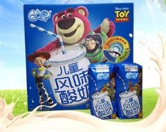 伊利牛奶 QQ星 儿童酸奶 安慕希希腊风味酸牛奶 一提(12盒) 205g