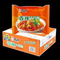 康师傅香辣牛肉面 一箱24袋 102g