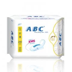 ABC卫生巾 纤薄纯棉柔8片装 超值干爽贴身日用卫生巾8片装240mm ABC