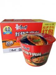 康师傅红烧牛肉面 108g/桶 一箱