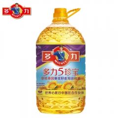 多力5珍宝非转基因葵花籽食用调和油5L