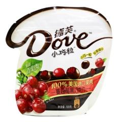 德芙小巧粒  蔓越莓巧克力100g