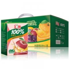 汇源纯果汁 100%果汁 200ml 一件/24盒