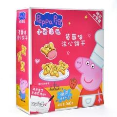 小猪佩奇 注心饼干 草莓味 160g