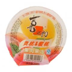 喜之郎果肉杯 200g 黄桃味