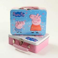 小猪佩奇  牛奶曲奇饼干120g佩琪佩琦粉红猪小妹铁盒礼盒