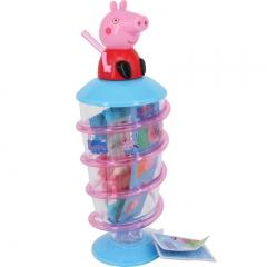 香港进口peppapig小猪佩奇粉红猪小妹糖果旋转吸管杯水果糖水杯21g