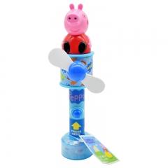 小猪佩奇 玩具手动风扇带糖果  迷你创意送儿童手摇正品行货 6g