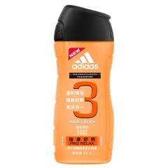 Adidas/阿迪达斯 按摩舒爽沐浴露250ml 清新酷爽洗护合一