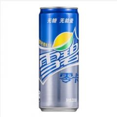 雪碧 零卡无糖无能量清爽柠檬味碳酸饮料汽水330ml