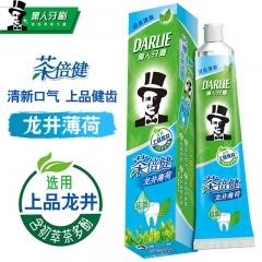 黑人 茶倍健龙井薄荷牙膏 天然薄荷香型清新口气健齿防蛀140g