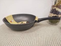 麦饭石炒锅两用 30cm 材质:5层银纳米麦石锅椮透层