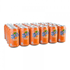 芬达橙味汽水  碳酸饮料 一件(24罐*330ml) 橙味