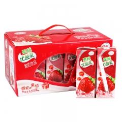 伊利 果粒酸奶 草莓味 245g*12盒