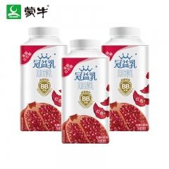 蒙牛冠益乳酸牛奶 石榴玫瑰味利乐冠一瓶250g