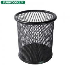 三木笔筒 创意圆形加厚金属网