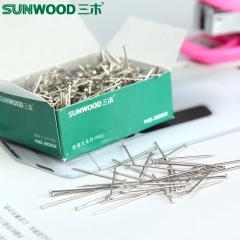 三木盒装8062大头针办公文具用品镀镍定位针固定针50g/盒直别针