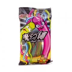 悠果乐 魔幻绳水果糖 彩绳型什果味水果糖果 儿童零食 30g