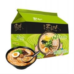 统一汤达人方便面 日式豚骨拉面 袋装125g*5连包