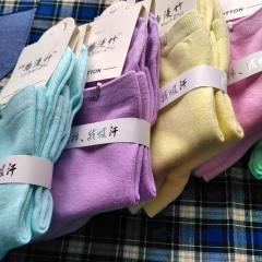 路漫竹 纯棉儿童袜子(4—8岁 ) 颜色多款,下单可备注颜色即可