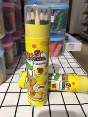 三木熊出没18色桶装彩色铅笔