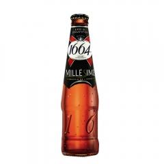 法国进口1664复古味啤酒 克伦堡 凯旋1664 整箱330ml*6