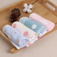 姐弟 婴儿洗澡毛巾纯棉纱布口水巾 洗脸小方巾新生儿童手绢宝宝手帕6层