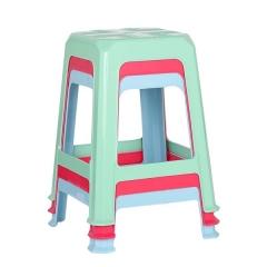 茶花 普通方形凳子  颜色随机