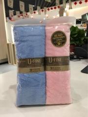 韩国纤维丝柔活肤面巾 毛巾39*80两条装