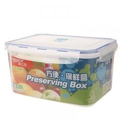 龙士达 密封盒 保鲜盒 饭盒1200ml 长方形 盒