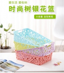 镂空篮 环保塑料 储存盒 无盖收纳盒