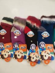 欢佳反口拉毛儿童袜 6-12岁 颜色随机