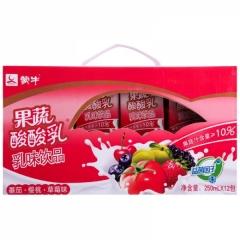 蒙牛果蔬酸酸乳250ml*12
