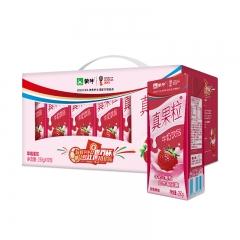 蒙牛真果粒草莓250g*12